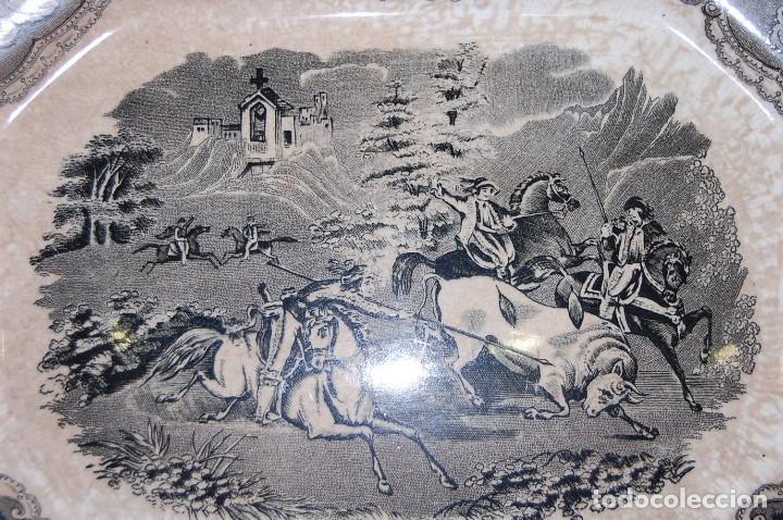 Antigüedades: FUENTE PLATO DE LA FABRICA CARTAGENA S.XIX - Foto 2 - 79662501