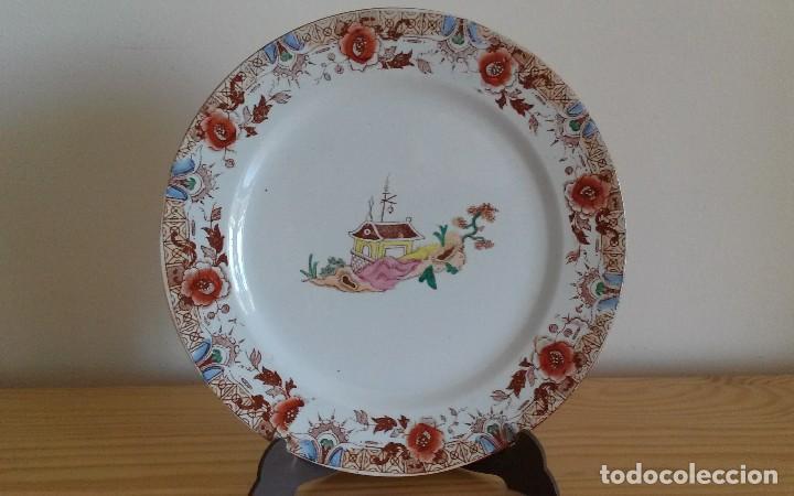PLATO PORCELANA FRANCESA SARREGUEMINES (Antigüedades - Porcelana y Cerámica - Francesa - Limoges)