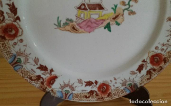 Antigüedades: Plato porcelana francesa Sarreguemines - Foto 3 - 79664757