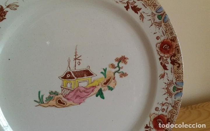 Antigüedades: Plato porcelana francesa Sarreguemines - Foto 5 - 79664757
