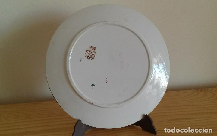 Antigüedades: Plato porcelana francesa Sarreguemines - Foto 6 - 79664757