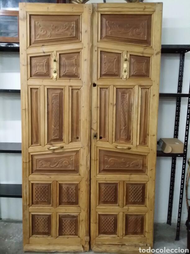 Puertas De Exterior De Nogal Y Pino Doble Hoja Vendido En Venta