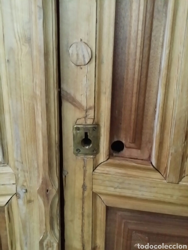 Puertas De Exterior De Nogal Y Pino Doble Hoja Sold Through