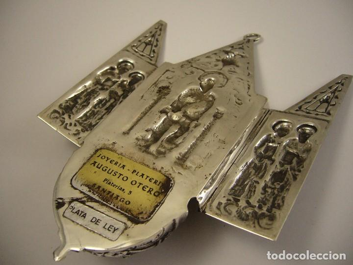Antigüedades: CAPILLA PILA BENDITERA EN PLATA DE LEY 925 - Foto 2 - 79671289