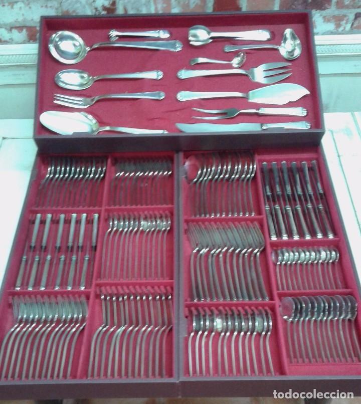 Cuberter a plateada 156 piezas marca df media comprar for Cuberteria de plata precio