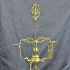 Antigüedades: CANDIL DE ACEITE DE CUATRO LUCES. Lote 54812556