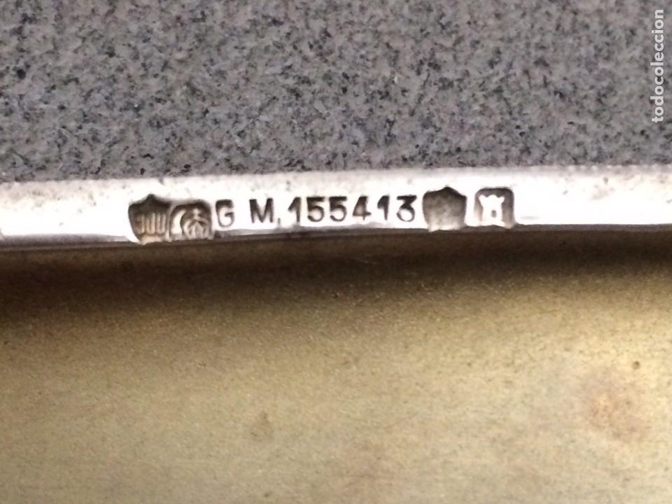 Antigüedades: Antigua pitillera de plata marcada 900 - Foto 6 - 79756639