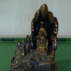Antigüedades: RECUERDO DE MONSERRAT EN METAL. Lote 79759989