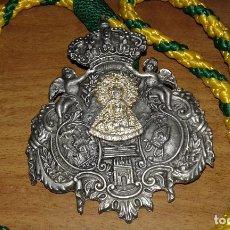 Antigüedades: CURIOSA COMPOSICION DE MEDALLA DE LA HDAD DEL ROCIO DE LA MACARENA CON EL PERFIL DE LA ESPERANZA. Lote 79789025