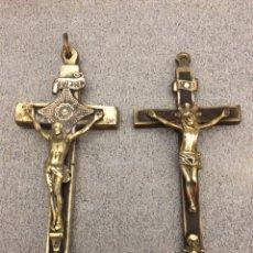 Antigüedades: ANTIGUOS CRISTOS DE BRONCE Y MADERA. Lote 79789874