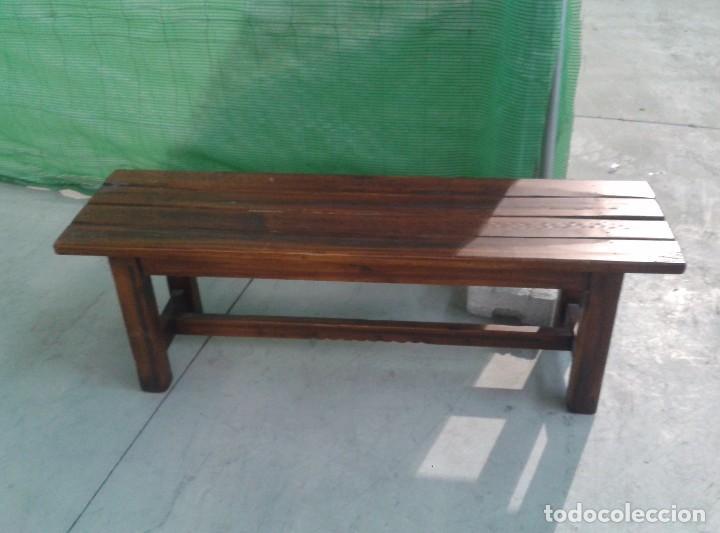 Banco antiguo estilo r stico colombiano banco comprar for Bancos de madera para jardin baratos