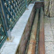 Antigüedades: PAREJA DE COLUMNAS DE HIERRO FUNDIDO. Lote 74843393