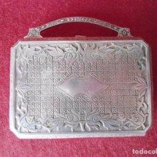 Antigüedades: ANTIGUO ESTUCHE DE ALPACA. Lote 79868281