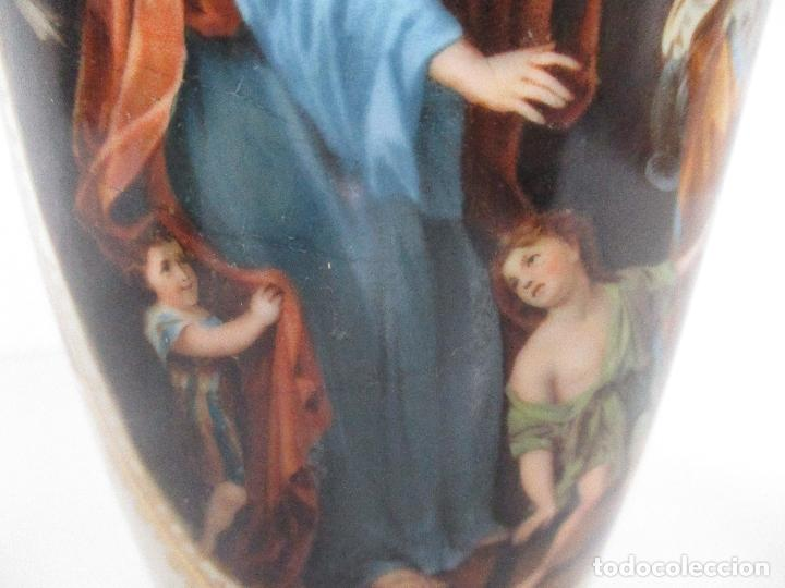 Antigüedades: Pareja de Jarrones - Porcelana - Alemanía - Esmaltada y Dorada - Sello Corona Imperial - S. XIX - Foto 7 - 79887213