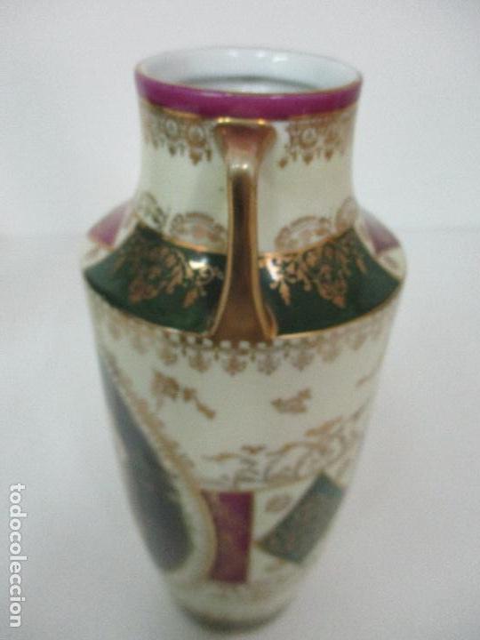 Antigüedades: Pareja de Jarrones - Porcelana - Alemanía - Esmaltada y Dorada - Sello Corona Imperial - S. XIX - Foto 11 - 79887213