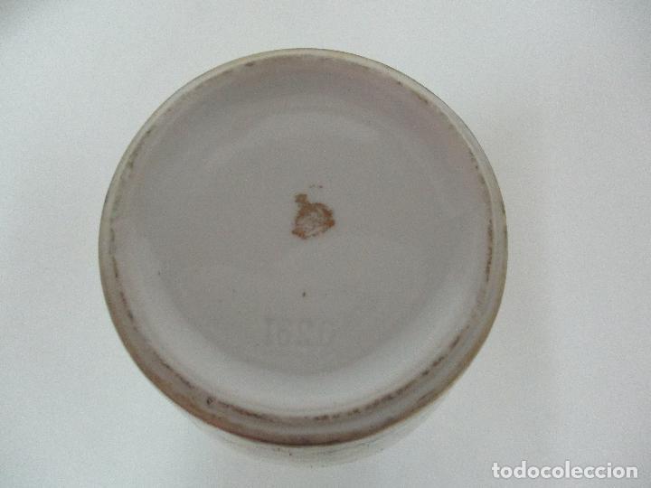 Antigüedades: Pareja de Jarrones - Porcelana - Alemanía - Esmaltada y Dorada - Sello Corona Imperial - S. XIX - Foto 16 - 79887213