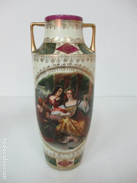 Antigüedades: Pareja de Jarrones - Porcelana - Alemanía - Esmaltada y Dorada - Sello Corona Imperial - S. XIX - Foto 21 - 79887213