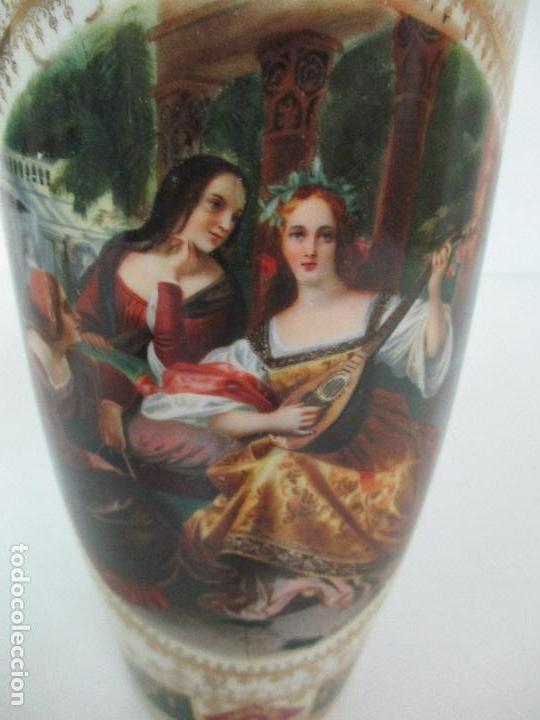 Antigüedades: Pareja de Jarrones - Porcelana - Alemanía - Esmaltada y Dorada - Sello Corona Imperial - S. XIX - Foto 22 - 79887213