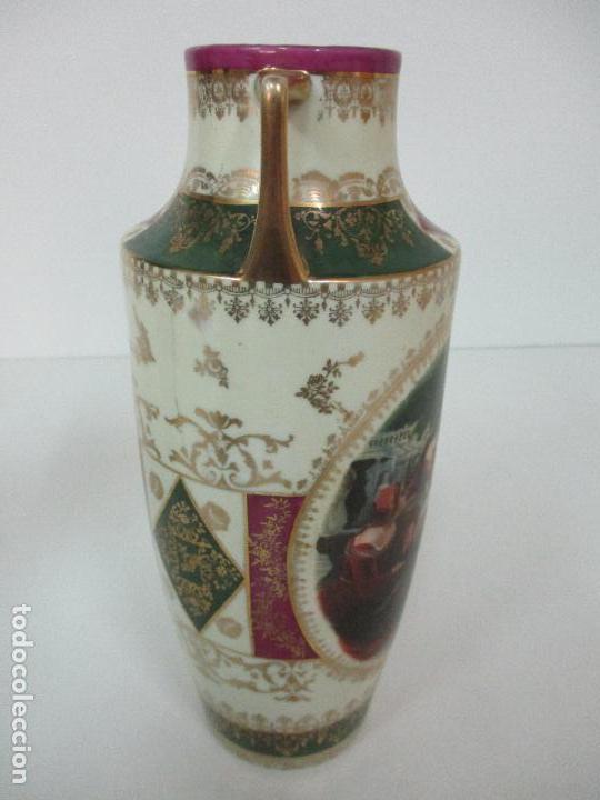 Antigüedades: Pareja de Jarrones - Porcelana - Alemanía - Esmaltada y Dorada - Sello Corona Imperial - S. XIX - Foto 28 - 79887213