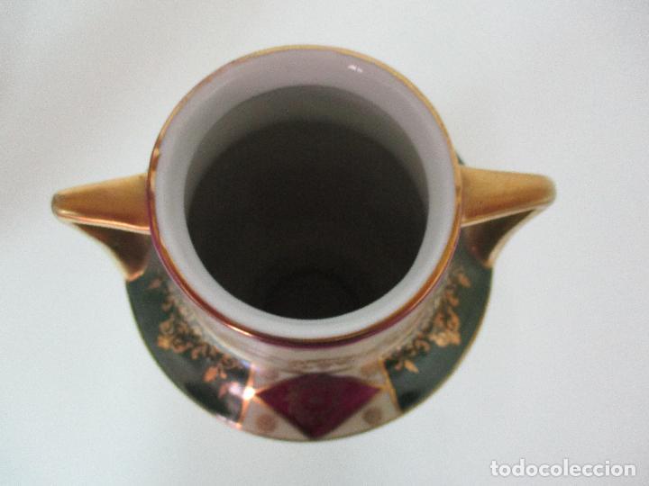 Antigüedades: Pareja de Jarrones - Porcelana - Alemanía - Esmaltada y Dorada - Sello Corona Imperial - S. XIX - Foto 31 - 79887213