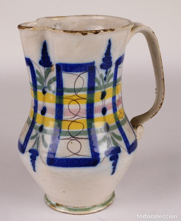 JARRA EN CERÁMICA LEVANTINA COLORES PRINCIPIOS SIGLO XX (Antigüedades - Porcelanas y Cerámicas - Otras)