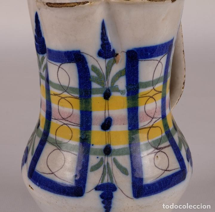 Antigüedades: Jarra en cerámica levantina colores principios siglo XX - Foto 4 - 79895745