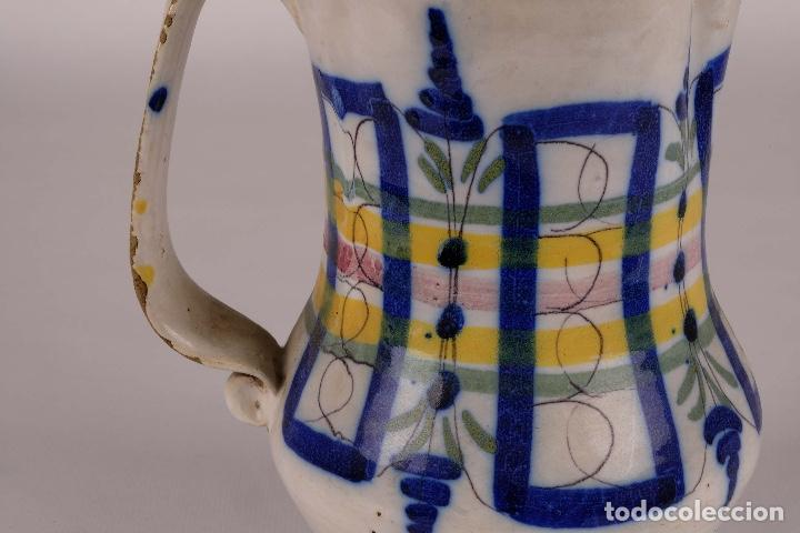 Antigüedades: Jarra en cerámica levantina colores principios siglo XX - Foto 5 - 79895745