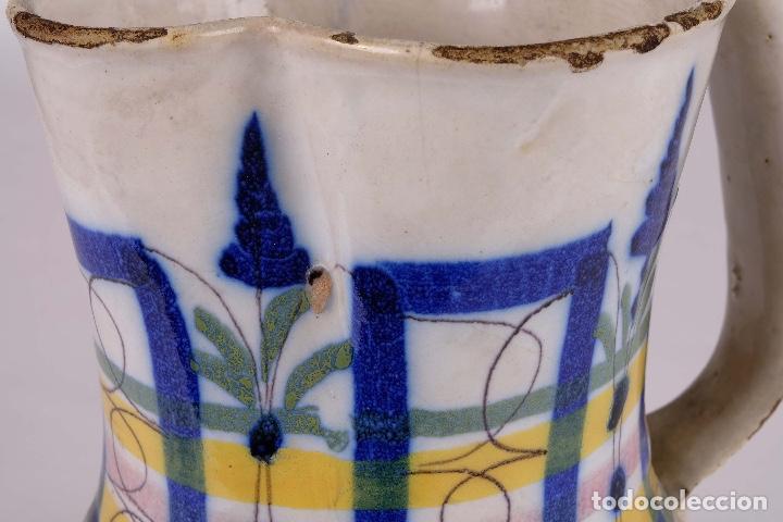 Antigüedades: Jarra en cerámica levantina colores principios siglo XX - Foto 7 - 79895745