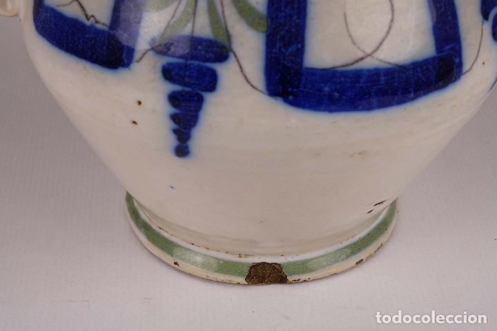 Antigüedades: Jarra en cerámica levantina colores principios siglo XX - Foto 9 - 79895745