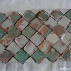 Antigüedades: AZULEJOS ALICATADO MUDEJAR SIGLO XV O ANTERIOR. Lote 79912909