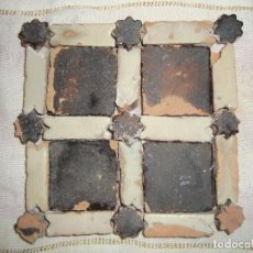 Antigüedades: AZULEJOS ALICATADO MUDEJAR SIGLO XV O ANTERIOR. Lote 79914153