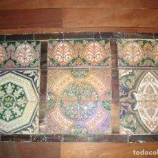 Antigüedades: COMPOSIICION DE AZULEJOS RAMOS REJANO REFLEJO ORO. Lote 79916297