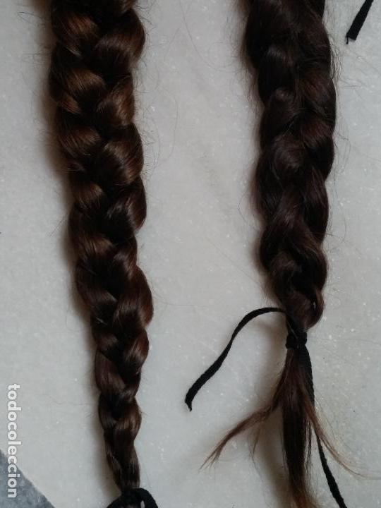 Antigüedades: Dos antiguas trenzas de pelo natural - Foto 4 - 79931925