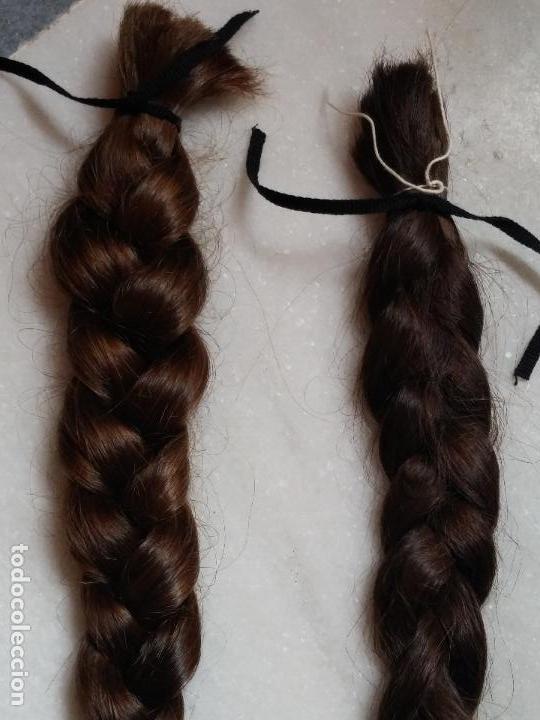 Antigüedades: Dos antiguas trenzas de pelo natural - Foto 5 - 79931925