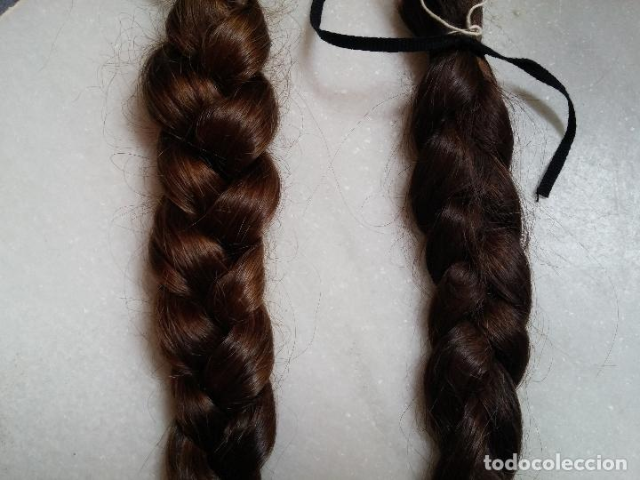 Antigüedades: Dos antiguas trenzas de pelo natural - Foto 7 - 79931925