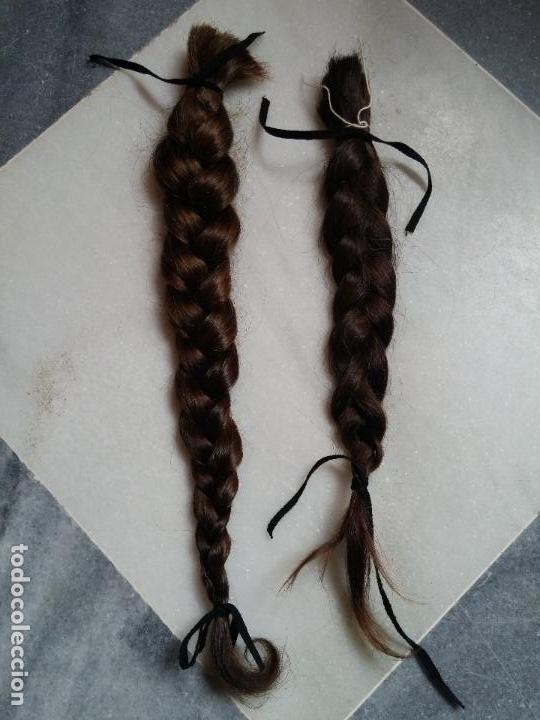 Antigüedades: Dos antiguas trenzas de pelo natural - Foto 9 - 79931925
