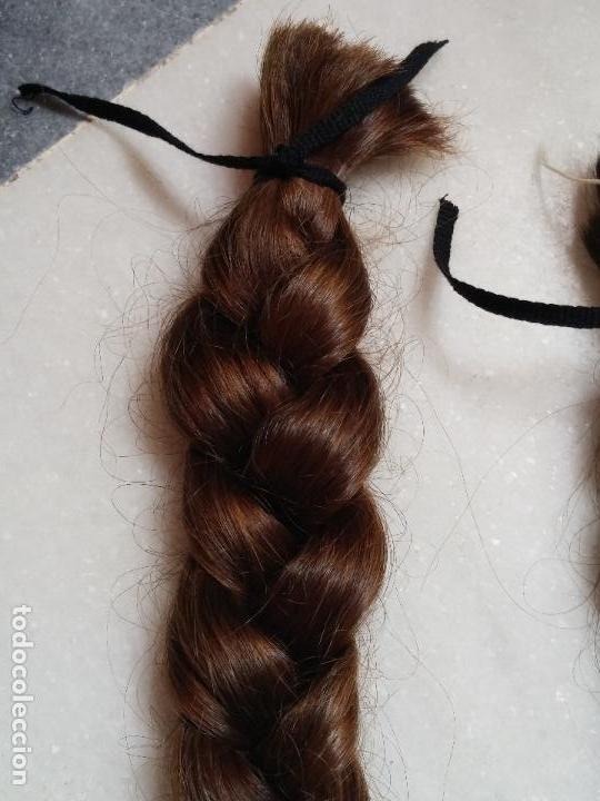 Antigüedades: Dos antiguas trenzas de pelo natural - Foto 15 - 79931925