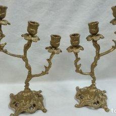 Antigüedades: CANDELABRO,PAREJA DE CANDELABROS DE METAL. Lote 79939773