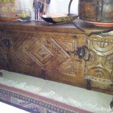 Antigüedades: ARCÓN MADERA NOBLE. Lote 94655358