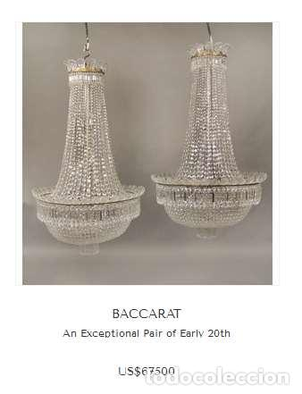 Antigüedades: BESTIAL LAMPARA VIP ANTIGUA 175CM CRISTAL BACCARAT FRANCIA SACO IMPERIO 1940 GRAN HOTEL TIENDA - Foto 11 - 75734619