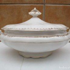 Antigüedades: SOPERA DE PORCELANA OVALADA - SAN CLAUDIO- OVIEDO.. Lote 80012645