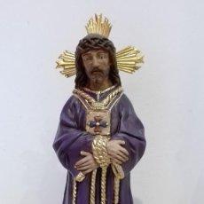 Antigüedades: IMAGEN DE JESÚS CAUTIVO, MEDINACELI DE MÁLAGA EN ESTUCO DE OLOT. Lote 80018245