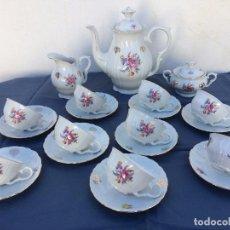 Antigüedades: JUEGO ANTIGUO DE CAFE EN PORCELANA SELLADO. Lote 80029281