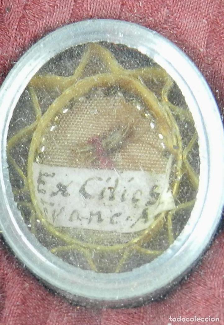 Antigüedades: EXCEPCIONAL RELICARIO COMPUESTO POR UN MARCO DE 11 ESFERAS OVALADAS CON 18 RELICARIOS EN SU INTERIOR - Foto 15 - 40644769