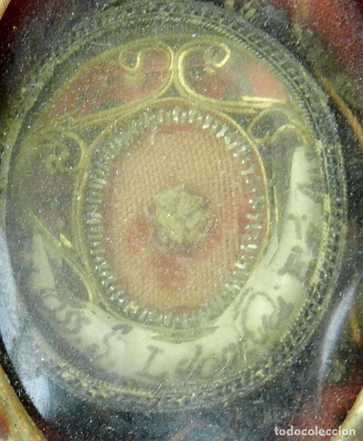 Antigüedades: EXCEPCIONAL RELICARIO COMPUESTO POR UN MARCO DE 11 ESFERAS OVALADAS CON 18 RELICARIOS EN SU INTERIOR - Foto 28 - 40644769