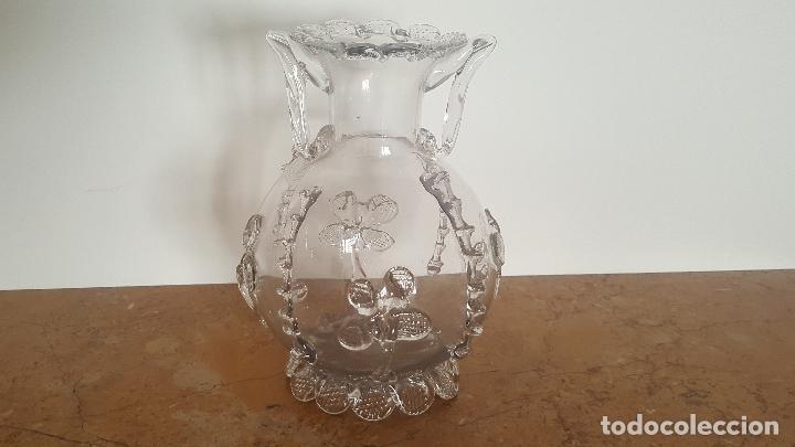 Antigüedades: Florero cristal antiguo. Centro de mesa de cristal. TOP!!! - Foto 2 - 80050201