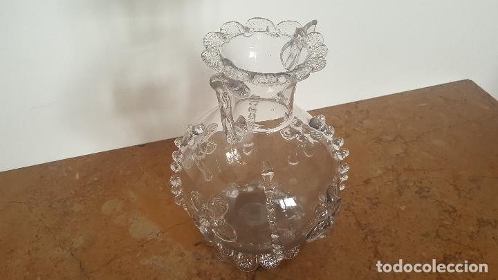 Antigüedades: Florero cristal antiguo. Centro de mesa de cristal. TOP!!! - Foto 3 - 80050201
