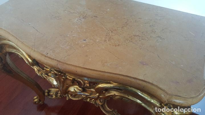 Antigüedades: Mueble antiguo. Consola dorada Isabelina. - Foto 3 - 80050653