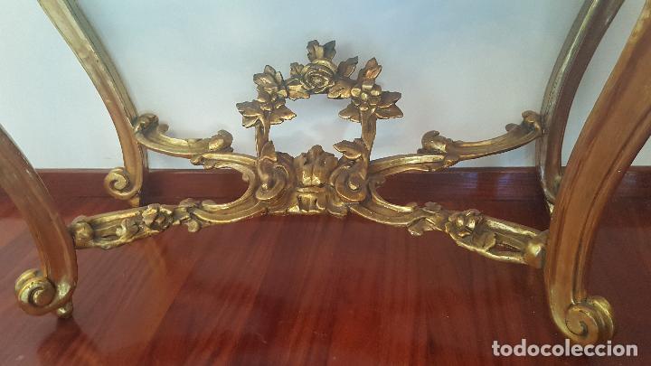 Antigüedades: Mueble antiguo. Consola dorada Isabelina. - Foto 5 - 80050653