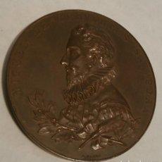 Antigüedades: MEDALLA DE BRONCE 3º CENTENARIO PUBLICACION DEL QUIJOTE 1605-1905. Lote 80057869